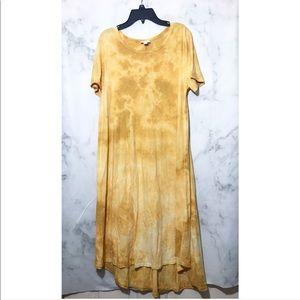 Lularoe • Yellow / Tie dye Dress